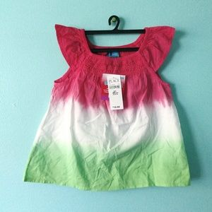 🏷️🍉👕NWT The Children's Place Dip Dyed Top